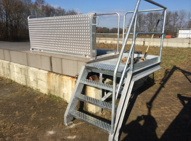 galesloot contructie project waternet toegansmiddelen trappen bordessen